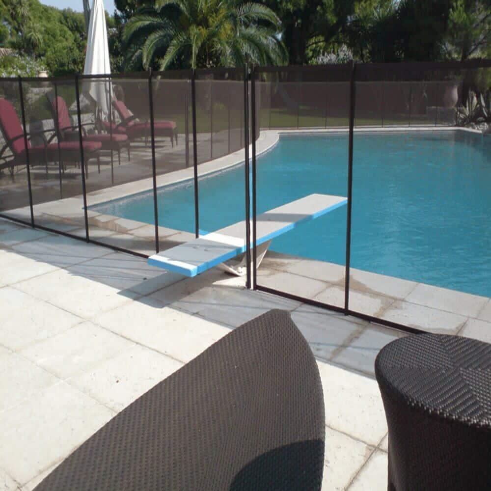 Barrière piscine en verre securit