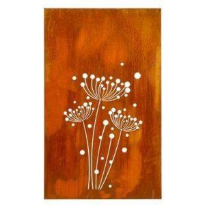 Panneau bois motif fleur